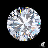 Diamond. Top view of perfect diamond Royalty Free Stock Image