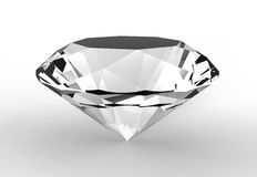 Diamond. Jewel on white background Royalty Free Stock Photography