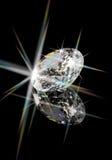 Diamond. Flashing stunning diamond on black Royalty Free Stock Photo
