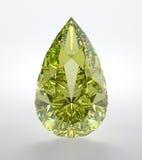 Diamond. 3D illustration of yellow diamond  on white background Stock Photos