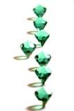 Diamond #3. Diamonds on a white table Royalty Free Stock Image