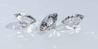 Diamond. Isolated on white 3 different views