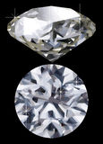 Diamond. A vector diamond against a black background Stock Photos