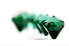 Diamond #4. Diamonds on a white table Royalty Free Stock Photography