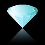 Diamond. Shiny Diamond Illustration Black Background Stock Images
