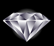 Diamond. Illustration on a black background vector illustration
