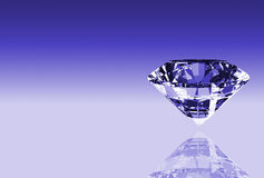 Diamond. Illustration showing the most perfect and valuable gem: diamond stock illustration