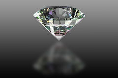 Diamond. Illustration showing the most perfect and valuable gem: diamond vector illustration