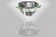 Diamond. Illustration showing the most perfect and valuable gem: diamond. Nice aura effect vector illustration