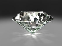 Diamond. 3d image of a diamond with caustics Stock Photography