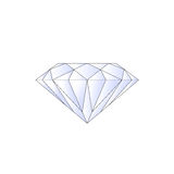Diamond. A large Diamond against a white background royalty free illustration