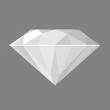 Diamond. Beautiful vector illustration of a round-brilliant cut diamonds stock illustration