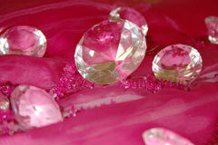 Diamond. S on the pink Royalty Free Stock Images