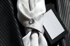 Diamond. A diamond on a tie Stock Images