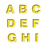 Diamond ABC. Diamond alphabet ABC with a gold backing stock illustration