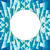 Diamond Abstract Background blått och gräsplanrunda Stock Illustrationer