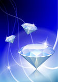 Diamond on Abstract Light Background Stock Photos