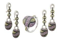 Diamond accessories set Stock Photo
