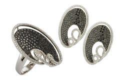 Diamond accessories set Royalty Free Stock Image