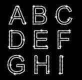 Diamond Alphabet vector illustration Royalty Free Stock Photos