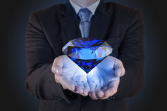 Diamond as business chart concept stock photography