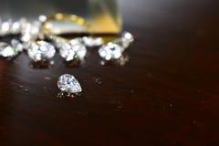 Diamond As-juwelen Zeldzaam en duur, met een waarde van het hebben van bezit royalty-vrije stock afbeelding