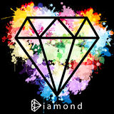 Diamond as a silhouette Stock Photo