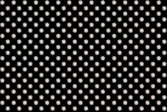 Diamond background. Round brilliant cut diamonds grid isolated on black background Stock Photos