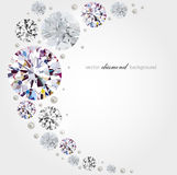 Diamond background. Abstract background with diamonds and pearls stock illustration