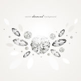 Diamond background. Abstract background with diamonds and pearls royalty free illustration