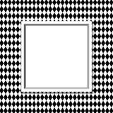 Diamond Background in bianco e nero con la struttura Immagine Stock Libera da Diritti