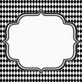 Diamond Background in bianco e nero con ricamo Fotografia Stock Libera da Diritti