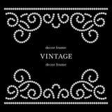 Diamond background. Dotted swirls, diamond pattern on black background Royalty Free Stock Image