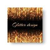 Greeting card with golden rays royalty free illustration