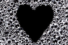 Diamond background with heart shaped space. Royalty Free Stock Photography
