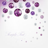 Diamond background. Purple abstract background with diamonds Royalty Free Stock Photos