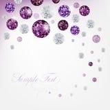 Diamond background. Purple abstract background with diamonds vector illustration