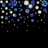Diamond Background Vector Illustration noir de luxe abstrait Images stock