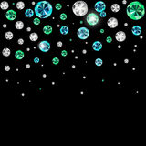 Diamond Background Vector Illustration noir de luxe abstrait Photos stock