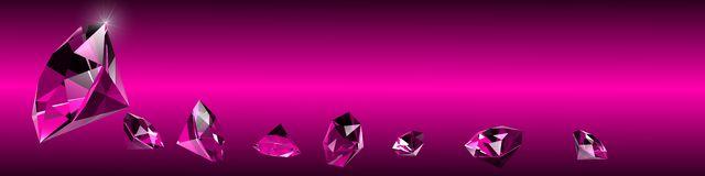 Diamond backround Stock Image