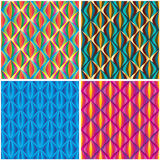 Diamond ball bright colorful set seamless pattern Stock Photography