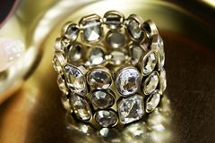 Diamond bangle Stock Photography