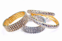 Diamond bangles Royalty Free Stock Photo