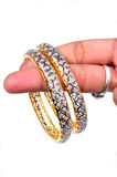 Diamond bangles Royalty Free Stock Photos