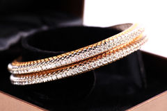 Diamond bangles Stock Photography