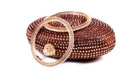 Diamond bangles royalty free stock image