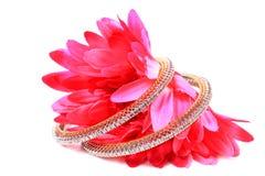 Diamond bangles royalty free stock photography