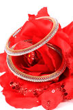 Diamond bangles Stock Image