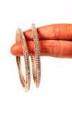 Diamond bangles Royalty Free Stock Photos