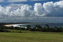 Diamond Beach Australia Royaltyfri Bild